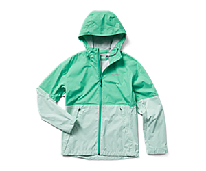 Fallon Rain Jacket, Spearmint/Jade, dynamic