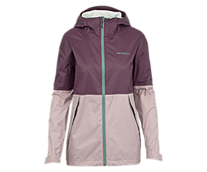 Fallon Rain Jacket, Blackberry, dynamic