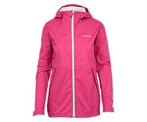 Fallon Rain Jacket, Fuchsia, dynamic