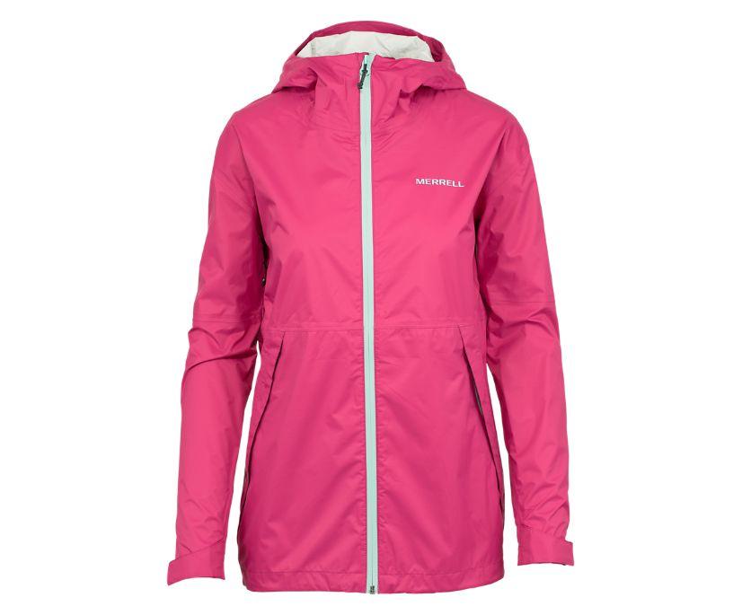 Fallon Rain Jacket, Fuchsia, dynamic
