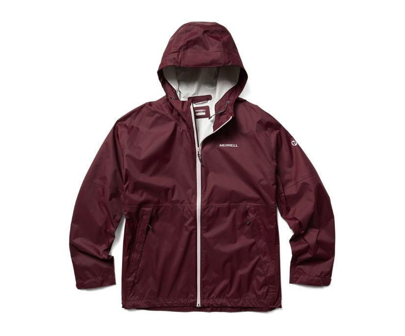 Fallon Rain Jacket, Burgundy, dynamic