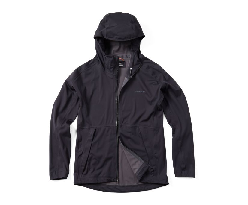 Whisper Rain Jacket, Black, dynamic