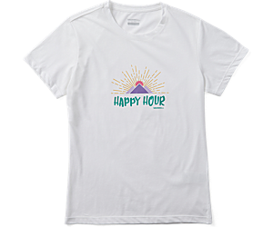 Happy Hour Short Sleeve Tee, White, dynamic