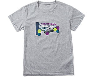 Woodmark Logo Short Sleeve Tee, Grey Heather, dynamic