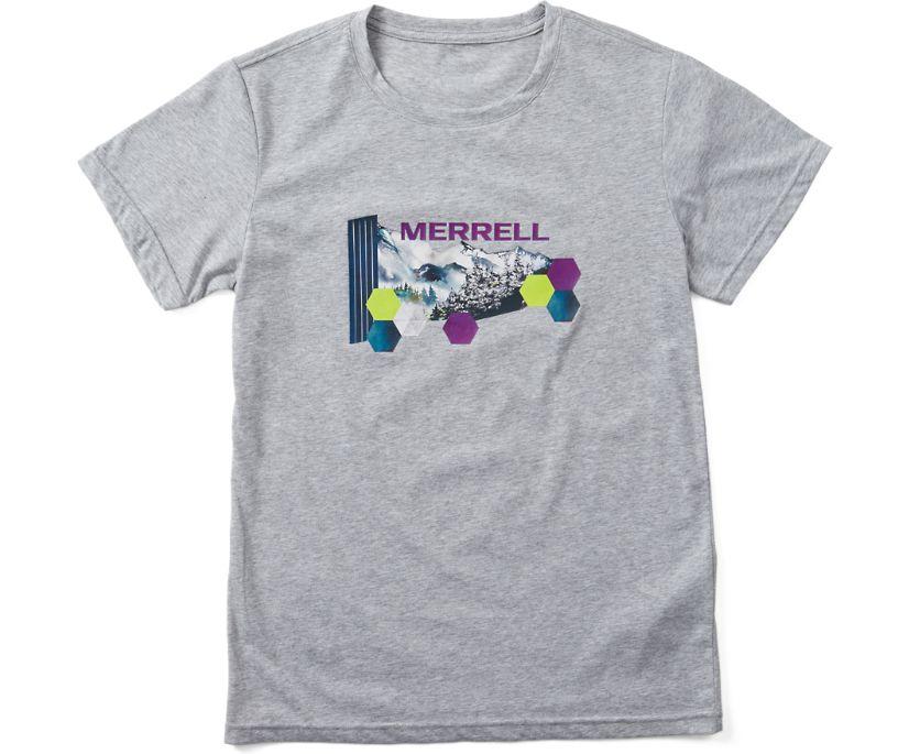 Woodmark Logo Short Sleeve Tee, Grey Heather, dynamic