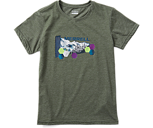Woodmark Logo Short Sleeve Tee, Olive Heather, dynamic
