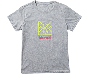 Stamp Short Sleeve Tee, Grey Heather, dynamic