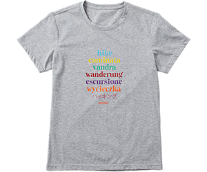 Hike Translate Short Sleeve Tee, Grey Heather, dynamic
