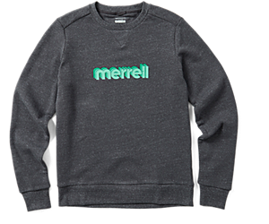 Retro Repeat Crewneck Sweatshirt, Asphalt Heather, dynamic