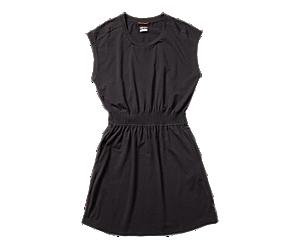 Short Sleeve Knit Dress, Black, dynamic