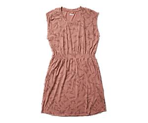 Short Sleeve Knit Dress, Burlwood Prism Print, dynamic