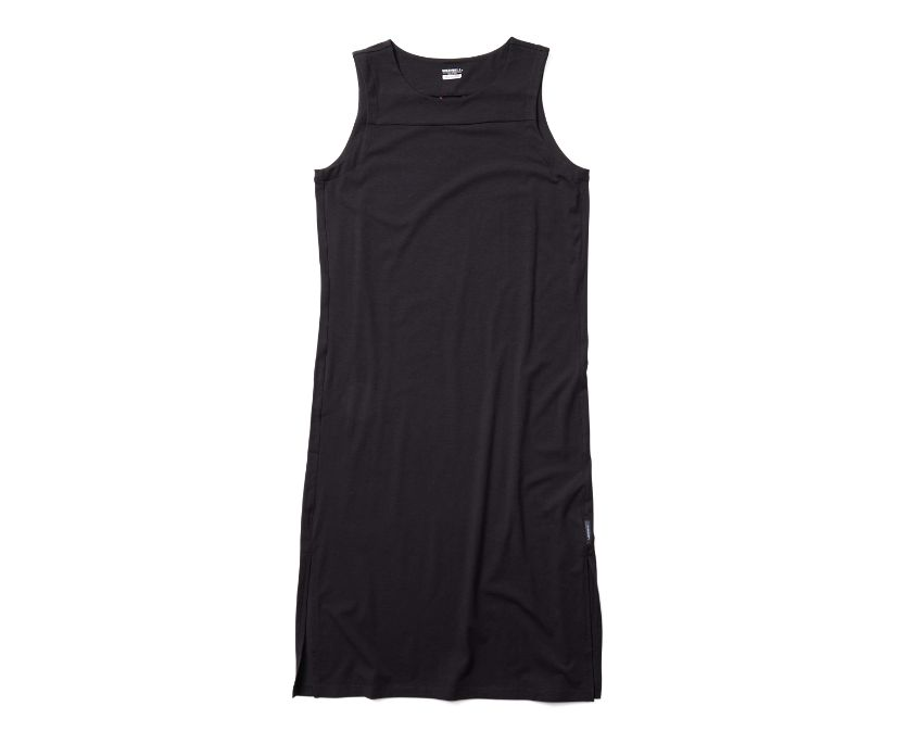 Tank Midi Dress, Black, dynamic