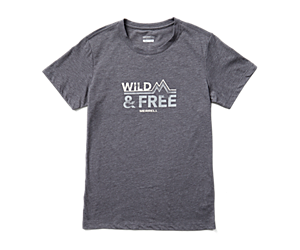 Wild Short Sleeve Tee, Asphalt Heather, dynamic