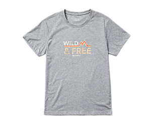 Wild Short Sleeve Tee, Grey Heather, dynamic