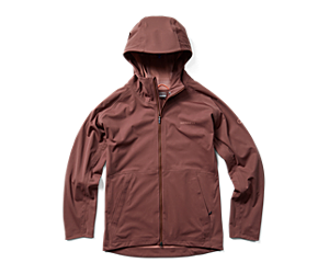 Whisper Rain Jacket, Marron, dynamic