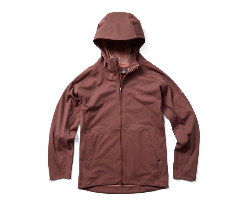 Whisper Rain Jacket, Marron, dynamic