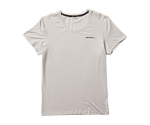 Tencel™ Short Sleeve Tee, Chalk/Paloma, dynamic