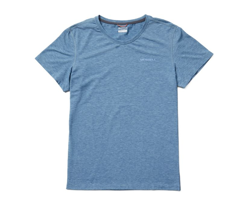 Tencel™ Short Sleeve Tee, Poseidon Heather, dynamic