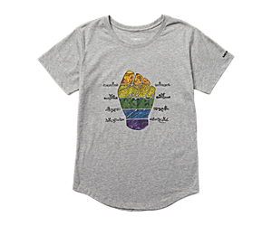Outdoors For All Fist Graphic Tee, Grey Heather, dynamic