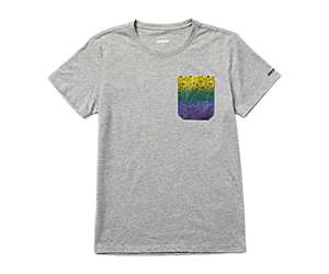 Outdoors For All Pocket Tee, Grey Heather, dynamic