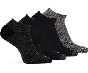 Holiday 4 Pack Low Cut Sock, Multi Black, dynamic