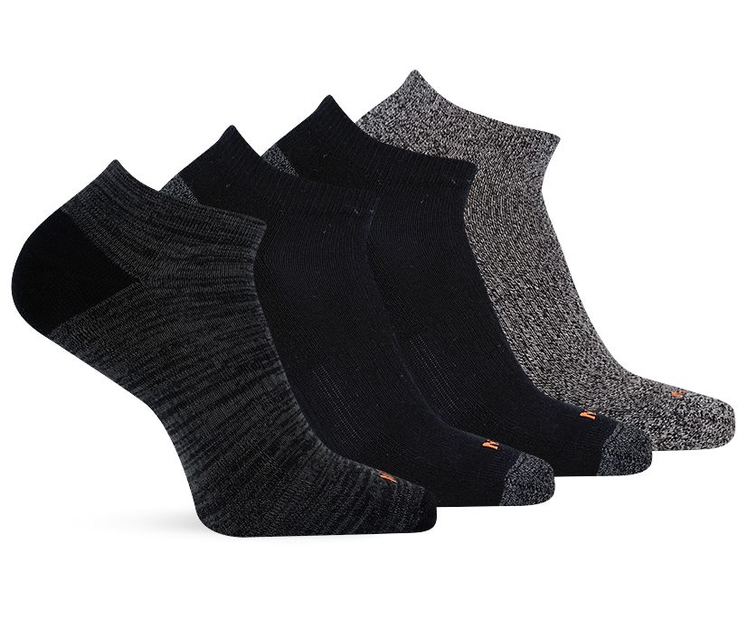 4 Pack Low Cut Sock, Multi Black, dynamic