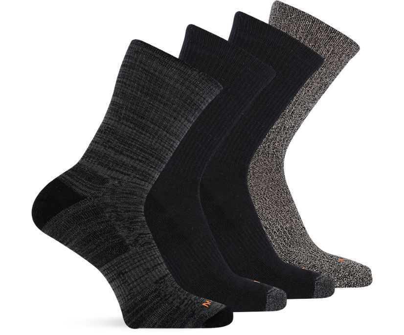 Holiday 4 Pack Crew Sock, Multi Black, dynamic