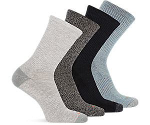 Holiday 4 Pack Crew Sock, Multi Grey, dynamic