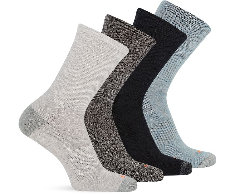 4 Pack Crew Sock, Multi Grey, dynamic