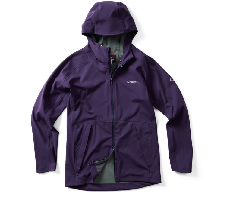 Whisper Rain Jacket, Malbec, dynamic