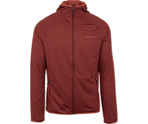 Entrada Geotex Long Sleeve Full Zip Hoodie, Syrah Heather, dynamic