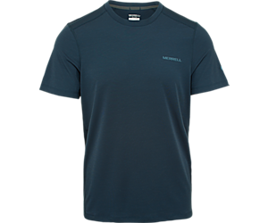 Tencel® Short Sleeve Tee with drirelease® Fabric, Navy Heather, dynamic