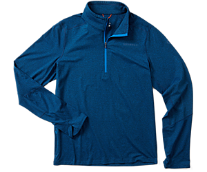 BetaTherm 1/4 Zip Mid-Layer Fleece, Imperial Blue, dynamic