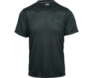 Entrada II Short Sleeve Wicking Tech Tee, Black/Asphalt, dynamic