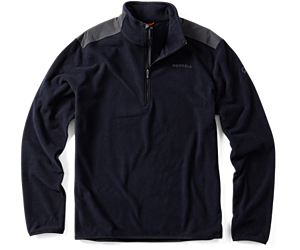 Flux Lightweight Hybrid 1/4 Zip, Black, dynamic