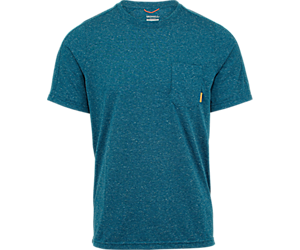 Trailhead Short Sleeve Tee with Drirelease®, Sailor Blue Heather, dynamic