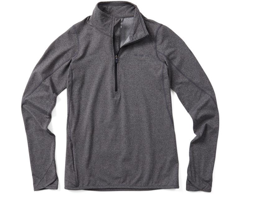 BetaTherm 1/4 Zip Mid-Layer Fleece, Black/Eggshell, dynamic