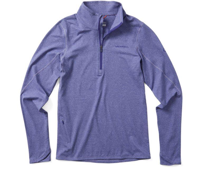 BetaTherm 1/4 Zip Mid-Layer Fleece, Twilight Purple Heather, dynamic