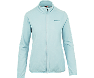 Flux Lightweight Hybrid Full Zip Fleece, Blue Fog, dynamic