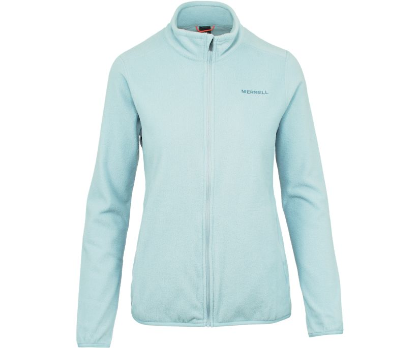 Flux Lightweight Hybrid Full Zip Fleece, Blue Fog, dynamic