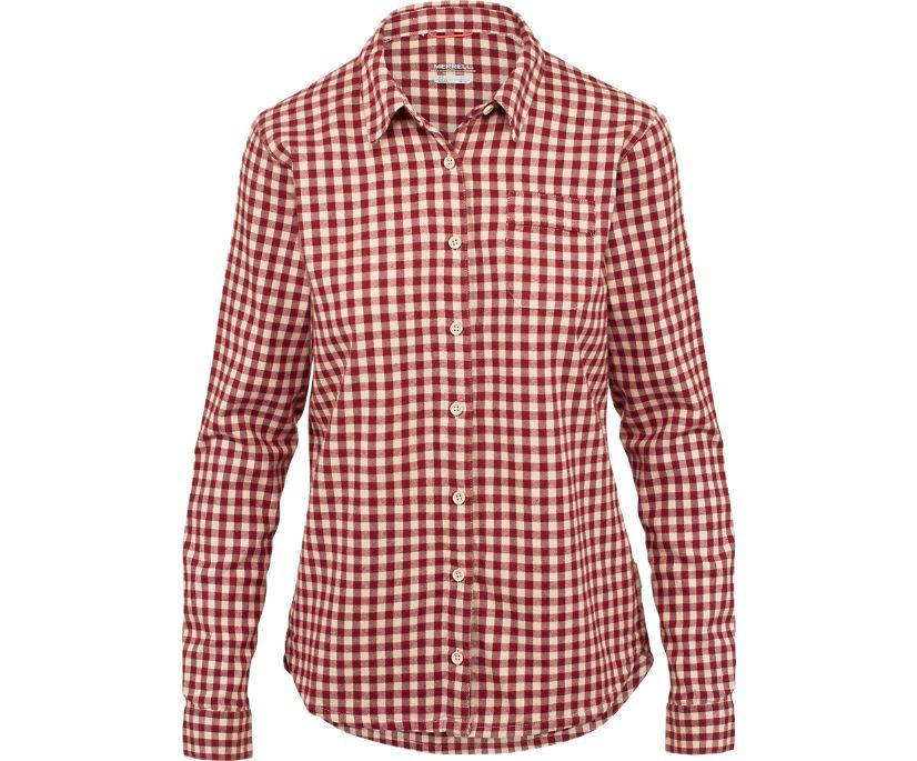 Trailhead Long Sleeve Flannel, Rose Smoke, dynamic