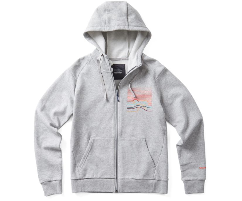 Foothills Full Zip Hoody, Grey Heather, dynamic