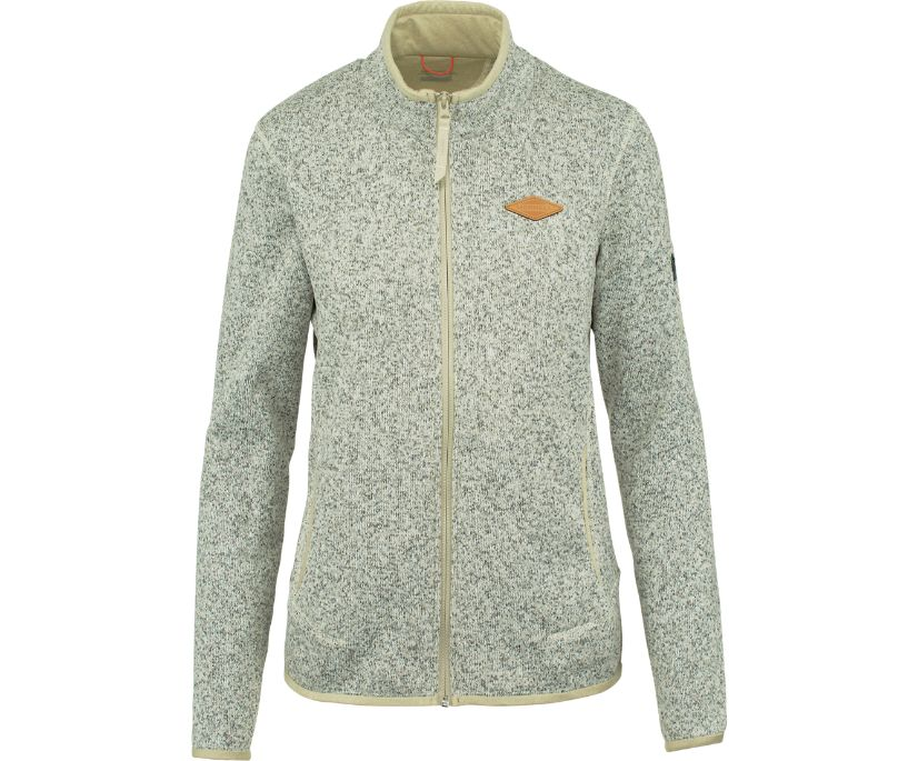 Trailhead Sweater Knit Full Zip, Whisper White, dynamic