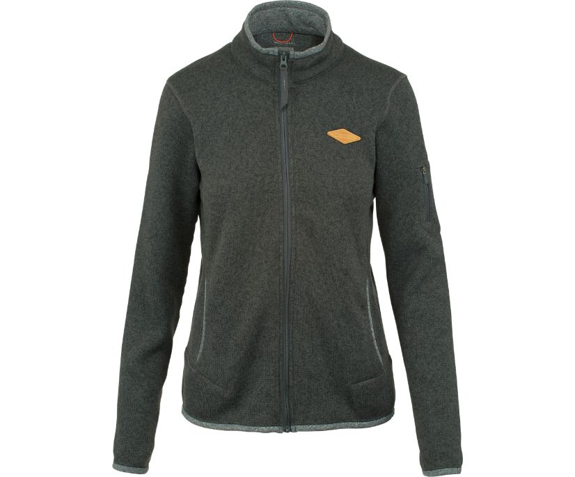 Trailhead Sweater Knit Full Zip, Asphalt, dynamic