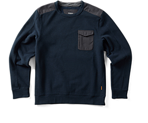 Trailhead Twill Crewneck, Navy, dynamic