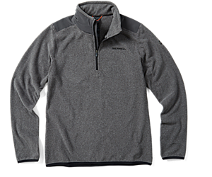 Flux Lightweight Hybrid 1/4 Zip Fleece, Asphalt, dynamic