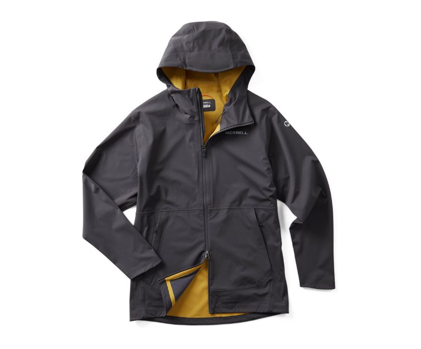 Whisper Rain Jacket, Asphalt, dynamic