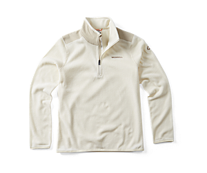 Flux Lightweight Hybrid 1/4 Zip Fleece, Whisper White/Silver Lining, dynamic