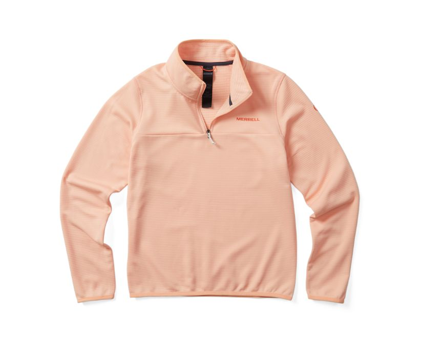 Entrada Geotex 1/4 Zip, Peach, dynamic