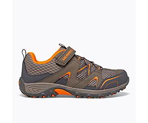 Trail Chaser Shoe, Gunsmoke / Orange, dynamic
